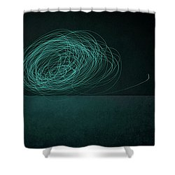 Dizzy Moon Shower Curtain