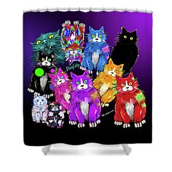 Dizzycats Shower Curtain