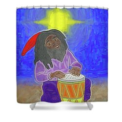 Shower Curtain featuring the digital art Djembe Under The Stars by John Haldane
