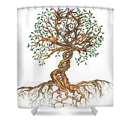 Dna Tree Of Life Shower Curtain