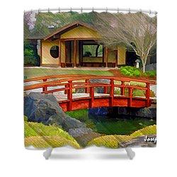 Do-00006 Cypress Bridge And Tea House Shower Curtain