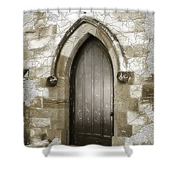 Shower Curtain featuring the photograph Do-00055 Chapels Door In Morpeth Village by Digital Oil