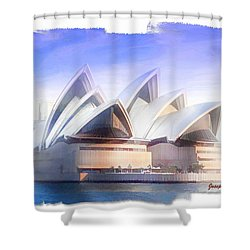 Shower Curtain featuring the photograph Do-00109 Opera House by Digital Oil