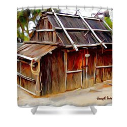 Shower Curtain featuring the photograph Do-00129 Old Cottage by Digital Oil