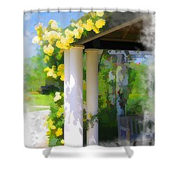 Shower Curtain featuring the photograph Do-00137 Yellow Roses by Digital Oil
