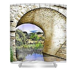 Shower Curtain featuring the photograph Do-00262 Richmond Bridge by Digital Oil