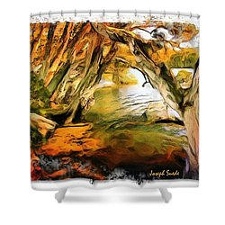 Shower Curtain featuring the photograph Do-00268 Trees On Water In Avoca Estuary by Digital Oil