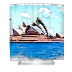 Shower Curtain featuring the photograph Do-00293 Sydney Opera House by Digital Oil
