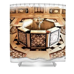 Shower Curtain featuring the photograph Do-00323 Old Bath Fountain by Digital Oil