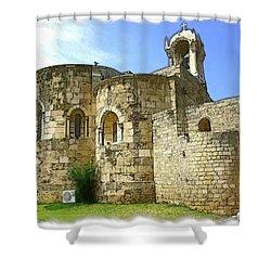 Do-00344 Church Of St John Marcus In Byblos Shower Curtain