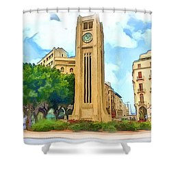Do-00358 The Clock Tower Shower Curtain