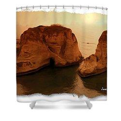 Do-00405 Raouche Sunset Beirut  Shower Curtain