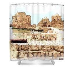 Do-00423 Citadel Of Sidon Shower Curtain