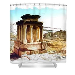 Do-00432 The Temple Of Faqra Shower Curtain
