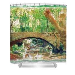 Do-00457 Janneh Bridge Shower Curtain
