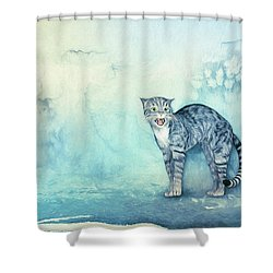 Do Not Come Closer Shower Curtain