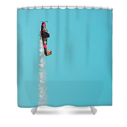 Do Not Press That Buuuutt.. Shower Curtain by Marcus Cederberg