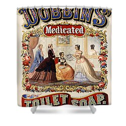 Dobbins Medicated Toilet Soap Advertising 1869 Shower Curtain