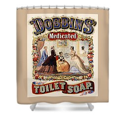 Dobbins Medicated Toilet Soap Shower Curtain