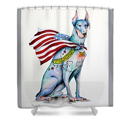 Doberman Napolean Shower Curtain