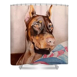 Rudy Shower Curtain by David Hoque