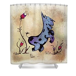 Dobo The Donkey Shower Curtain
