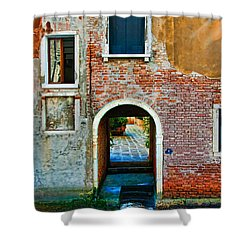 Dock And Windows Shower Curtain by Harry Spitz