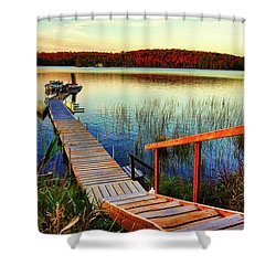 Dock At Gawas Bay Shower Curtain