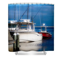Shower Curtain featuring the photograph Docked And Quiet by Kendall McKernon