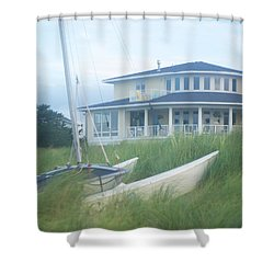 Docked In The Yard Va Beach Shower Curtain