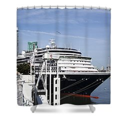 Docked In Vancouver Shower Curtain