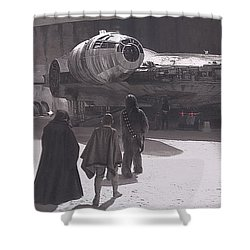 Docking Bay 94 Shower Curtain