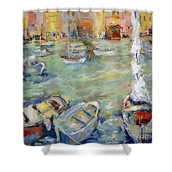 Docking In Cassis Shower Curtain