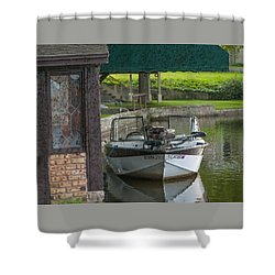 Docking Mayflies Shower Curtain