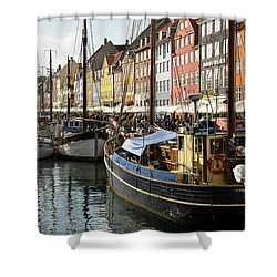 Dockside At Nyhavn Shower Curtain