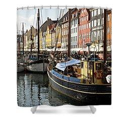 Dockside At Nyhavn Shower Curtain