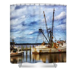 Dockside Shower Curtain by Denis Lemay