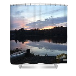 Dockside Pastels Shower Curtain