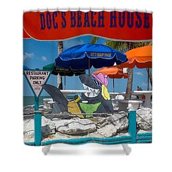 Doc's Beach House On Bonita Beach Shower Curtain
