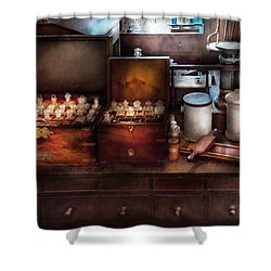 Doctor - Doctor In A Box Shower Curtain by Mike Savad