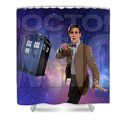 Doctor Who Shower Curtain by Pat Cook