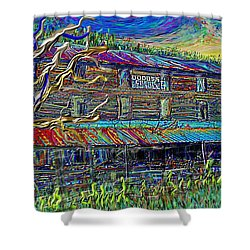 Dodds Creek Mill, ,floyd Virginia Shower Curtain