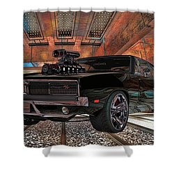Dodge Charger R/t 1969 Hemi Shower Curtain by Louis Ferreira