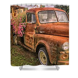 Dodge Flower Pot Shower Curtain