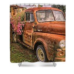 Dodge Flower Pot Shower Curtain