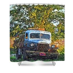 Dodge Hay Hauler Shower Curtain