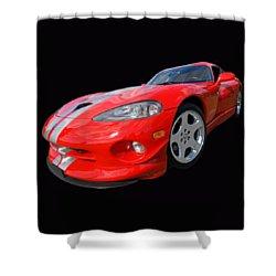Dodge Viper Gts Shower Curtain by Gill Billington
