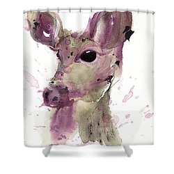 Shower Curtain featuring the painting Doe by Dawn Derman