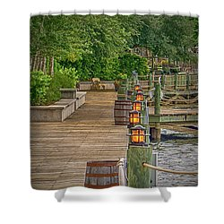 Down By The Boardwalk Shower Curtain