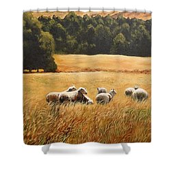 Does My Bum Look Big In This Paddock? Shower Curtain